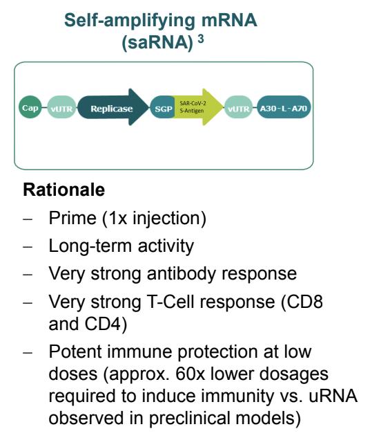 自己増幅mRNAワクチン