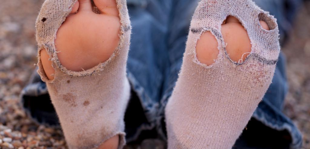 靴下に隠れる気づかぬ浪費