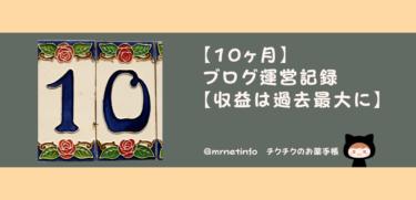 【10か月】ブログ運営記録【収益は過去最大に】
