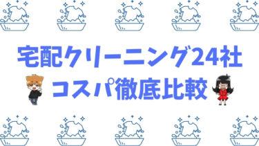 宅配クリーニング24社のコスパ徹底比較【ネット可,通常&保管付きパックのオススメは?】